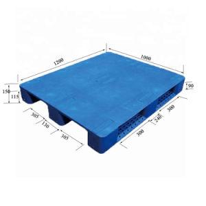 O perímetro total de paletes de plástico antiderrapagem empilháveis com reforço de aço