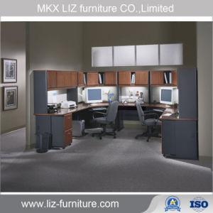 Armario de oficina modular clásico popular estación de trabajo con sobrecarga armario (2209)