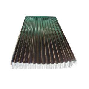 Z120 Revêtement de zinc toiture ondulé galvanisé la feuille de fer