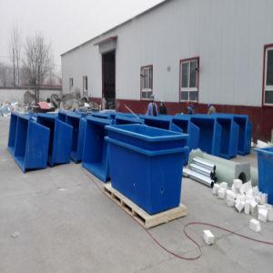 De Tank die van de glasvezel een Mengeling die van Water en 10% de Tank houden van het Hypochloriet FRP van het Natrium een Mengeling van Water en 10% het Hypochloriet van het Natrium houden