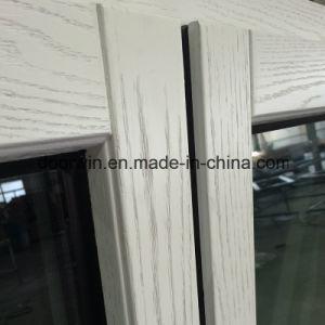 Europa Style Janela de alumínio de madeira maciça de pintura de cor branca