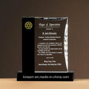 K9 de gama alta de cristal personalizado de la Copa Trofeo Tarjeta Gracias