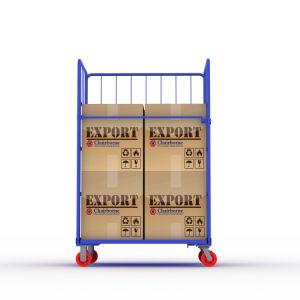 Supermercado de Almacenamiento extraíble resistente de malla de alambre rígido jaula antivuelco carro