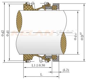 Guarnizione della pompa della guarnizione meccanica di muggito dell'elastomero Kl109 (tipo di Burgmann MG1 dell'aquila)