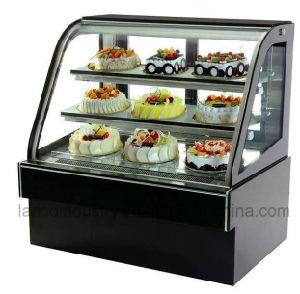 Exibição de luxo vitrina de bolos de pastelaria e Café Pizza