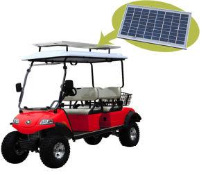 Carrinho de golfe 4 Carrinho de caça do Assento com painel solar
