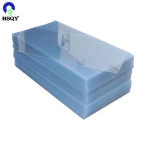 PVC transparente de plástico rígido de 0,5 mm hoja sin película protectora