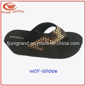 Mode Femmes Slipper Sandales Chaussures pour dames de filtre en coin