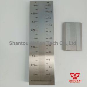 Один паз скребок из нержавеющей стали с помощью манометра (0-25Fineness um)