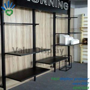 Metallwand-Zahnstangen-Kleidung-Bildschirmanzeige-Aufhängungs-Zahnstange für Einzelhandelsgeschäft-Bekleidungsgeschäft-an der Wand befestigte Bildschirmanzeige-Zahnstange