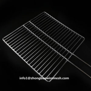 30 x 30 Cmのバーベキューのバスケットのステンレス鋼ハンドルが付いている屋外BBQのグリルの網