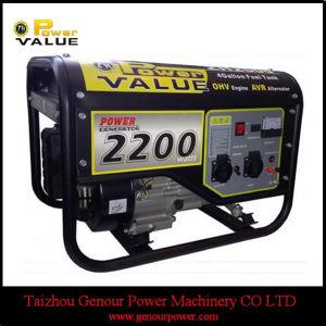 168f 5.5HP 2KW 100% arrefecido a ar de fio de cobre de 2KW gerador a gasolina