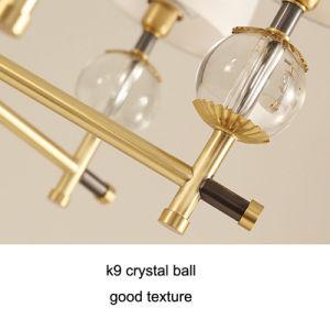 Sala de Estar cobre americana cobre Cristal Europeu Quarto Restaurante simples lustre de cobre