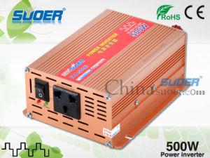 Suoer Inversor de potencia 500W coche solar Inversor de potencia 36V 220V de onda senoidal modificada Inversor de potencia con el precio de fábrica (FAA-500E)