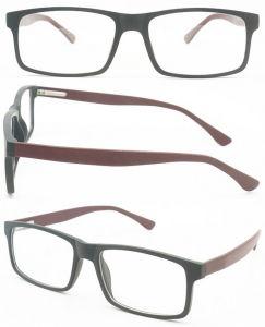 Het heet-verkoopt Cp van de Optica van het Ontwerp van de Rechthoek Frame van de Glazen van de Manier van de Glazen van het Oog Optische Met medicijnen behandelde met Uw Embleem dat in China wordt gemaakt