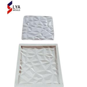 3D silicone painéis de parede do molde interior decorativas