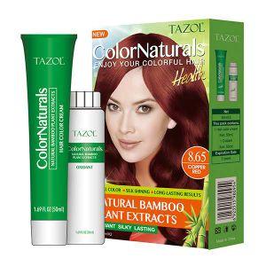 De Kleur van het Haar van Colornaturals van de Zorg van het Haar van Tazol (het Rood van het Koper) (50ml+50ml)