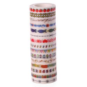 De Japanse Band Washi van de Verpakking van het Document Kleurrijke Zelfklevende Afgedrukte Douane