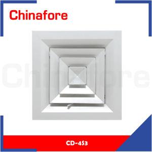 4 voies en aluminium de CVC Carré Diffuseur de retour de l'air au plafond