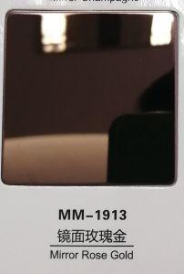 Rosa de oro y cobre/oro/Champagne/Morado espejo 8K de hoja de acero inoxidable para la casa/Hotel/Elevotor decoración escaleras /