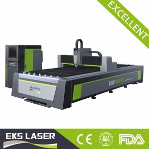 Coin Tuber Ingtegrared de fibres et gravure de la machine de découpe laser