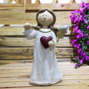 ホームおよび庭の装飾の天使のノームの彫像