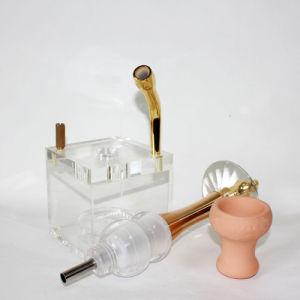 De Vaas + de Pijpen van het water voor de Rokende Pijp van het Glas van de Waterpijp van Cigarett Shisha van de Pijp van het Glas van de Waterpijp van het Glas van de Pijp van het Asbakje van de Staaf Shisha Rokende Rokende Mini Elektronische
