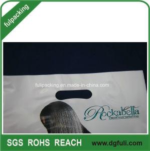 Kundenspezifischer Plastik stempelschnitt Beutel-Griff-Geschenk-Beutel-fördernde Einkaufstasche