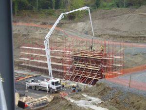 De vrachtwagen zette Concrete Pomp 2132m van de Boom op