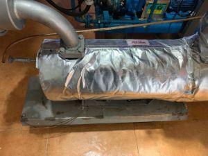 Comercio al por mayor de fibra de vidrio recubierto de aislamiento térmico aislamiento de la bomba cubre