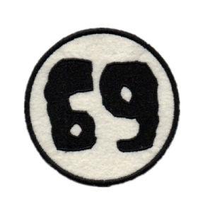 ギフトのためのカスタムロゴの刺繍パッチのシュニールパッチ