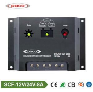Китай значениями Paco марки ШИМ контроллера заряда солнечных батарей 8A