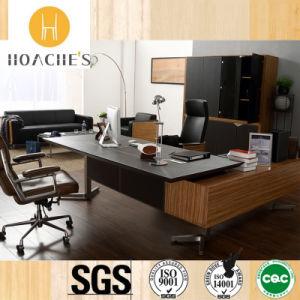 Bureau en cuir en bois de meubles modernes (V5) –Bureau en cuir en ...