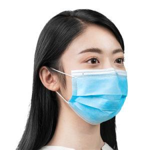 3-Ply Ear-Loop Non-Woven desechables Mascarilla médica con certificado CE