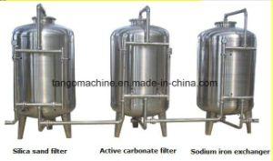 Pianta del sistema del filtro dal purificatore di trattamento delle acque di osmosi d'inversione