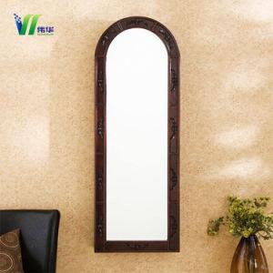 Het Kleden zich van de Muur van de Lengte van de Slaapkamer van de Goederen van het huis Volledige Moderne Witte Zilveren Spiegel