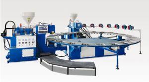 Automatische Drehzwei Farben-alleinige bildenluft-Blasformen-Maschine