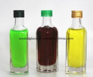 quadratische Glasspiritus-Flasche des alkohol-100ml