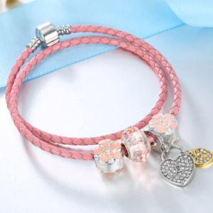 2018 de Armband van de Parel van de Legering van de Juwelen van de Manier van het Jaar met Roze Liefde