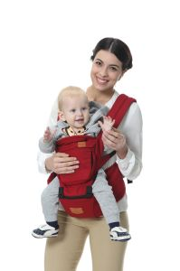 Venda por grosso de poliéster multifuncional de alta qualidade transportadora bebé vermelho