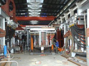 Forno ad induzione di alluminio di piccola dimensione delle coperture per la fusione d'acciaio