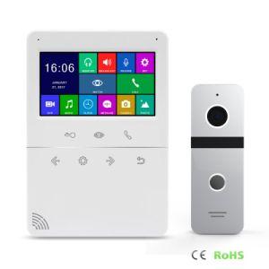 Home Security 4.3 pulgadas memoria de video portero automático sistema de intercomunicación de timbre