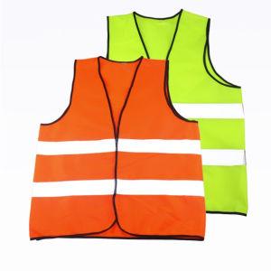 55a50348c65 Una alta visibilidad color naranja y amarillo Chaqueta de seguridad  reflectantes Chaleco de seguridad
