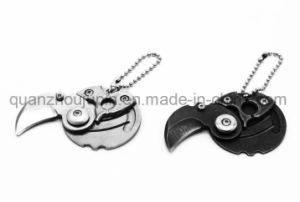 OEMのステンレス鋼の屋外の小型折るKeychainの硬貨のナイフ