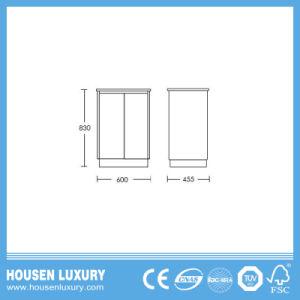 Heißer Verkauf 2018 freistehende Kurbelgehäuse-Belüftung oder MDF materielle Australien-Art hoher glatter Lack-Badezimmer-Schrank Auv102