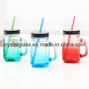 Garrafa de bebida de sumo de vidro, de vidro transparente Mason copo de cerveja