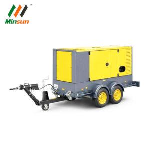 100KW 120kw silencioso móvil montado en el remolque Generador Diesel