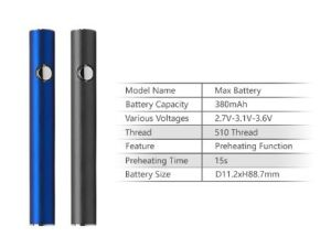 Стартовый набор перьев Itsuwa пара Max Battery аккумулятор 510 предпускового подогрева КБР Micro-USB аккумулятор @Lu28