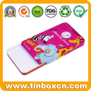 Venta caliente de metal rectangular Caja de caramelos de menta Lata deslizante con deslizar la tapa de goma de mascar dulces dulces