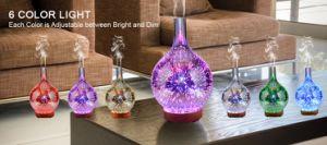 Verre verre 3D'Humidificateur diffuseur de parfum diffuseur Huile Essentielle de Bois